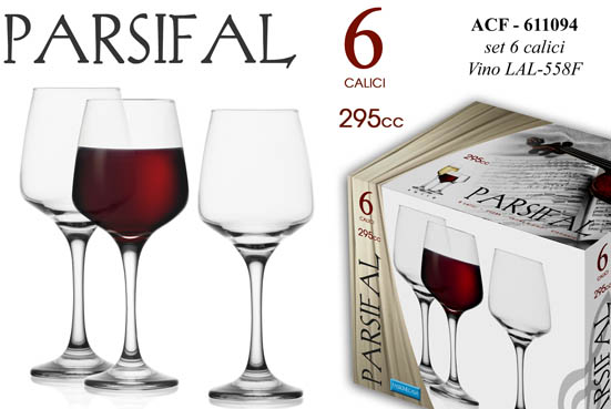 PARSIFAL CALICI VINO 6PZ 29CL