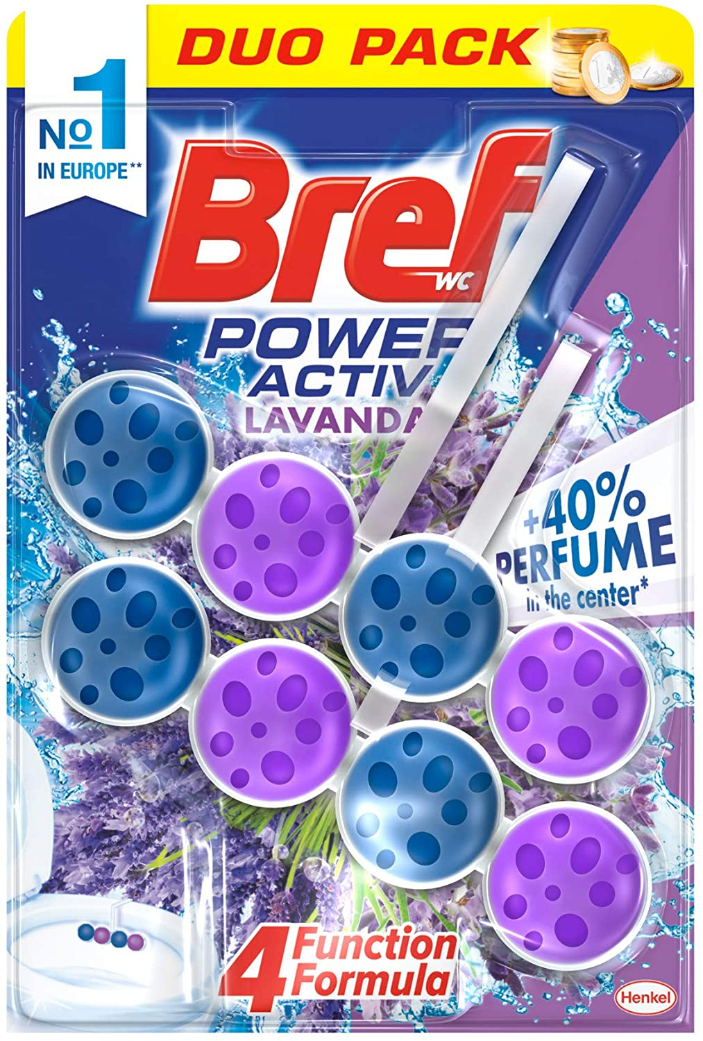 BREF WC POWER ACTIV LAVANDA 2X50G