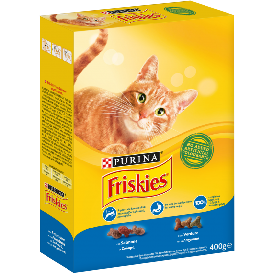 FRISKIES CAT CROCCANT.400GR SALMONE