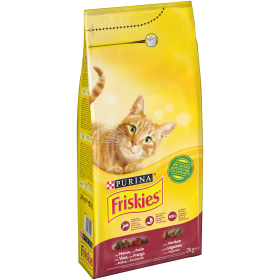 FRISKIES CAT 2KG MANZO POLLO E