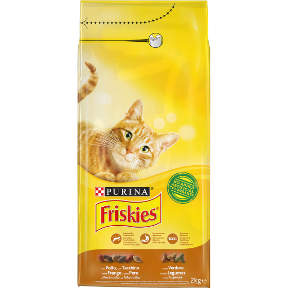 FRISKIES CAT 2KG POLLO TACCHINO E