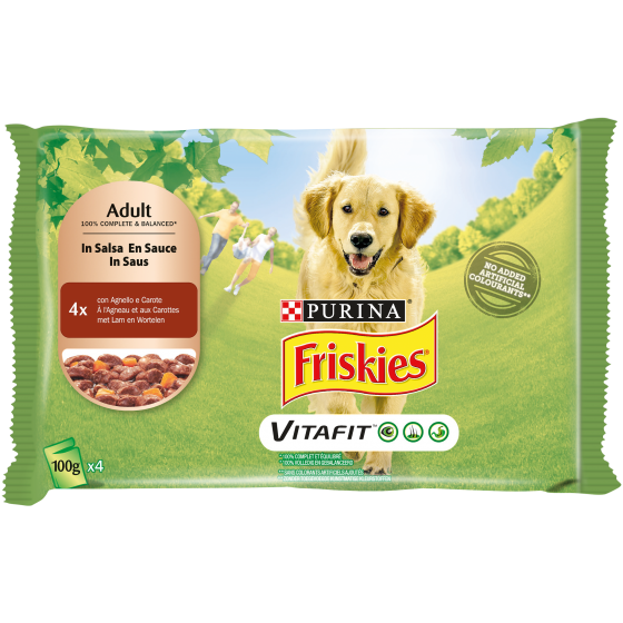 FRISKIES DOG ADULT 4X100GR AGNELLO E