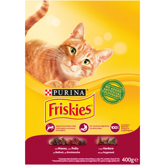FRISKIES CAT CROCCANT. 400GR MANZO
